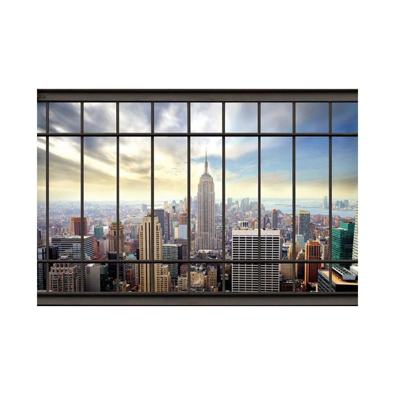 Photo de new york papier peint trompe l 39 oeil buildings for Building sans fenetre new york