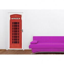 Poster de porte cabine téléphonique rouge anglaise
