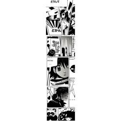 Lé de papier peint vertical style manga noir et blanc