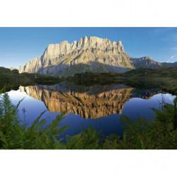 Tableau lac de montagne paysage grand format