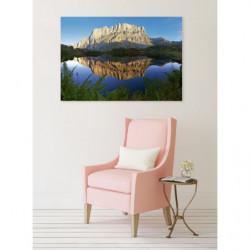 Cuadro en lienzo lago de montaña paisaje de gran tamaño