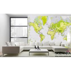 Papier peint carte du monde nature