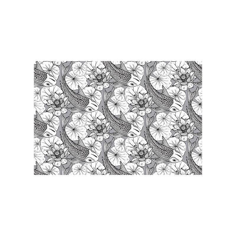 Papier peint panoramique japon dessin asiatique motif - Papier peint japonisant ...