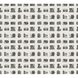 Papier peint vintage montage graphique avec des appareils photos anciens
