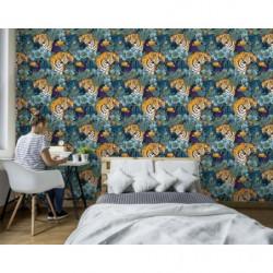 Papier peint motif tigre jungle