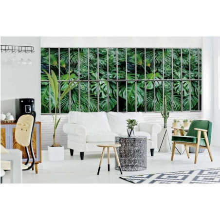 JUNGLE GLASS ROOF Wallpaper