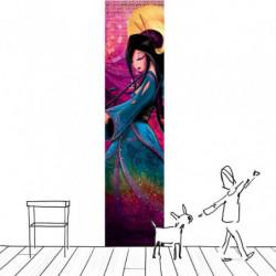 Tenture murale femme colorée en dessin