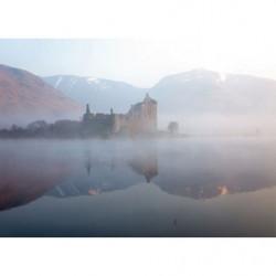 Tableau chateau en Ecosse dans la brume
