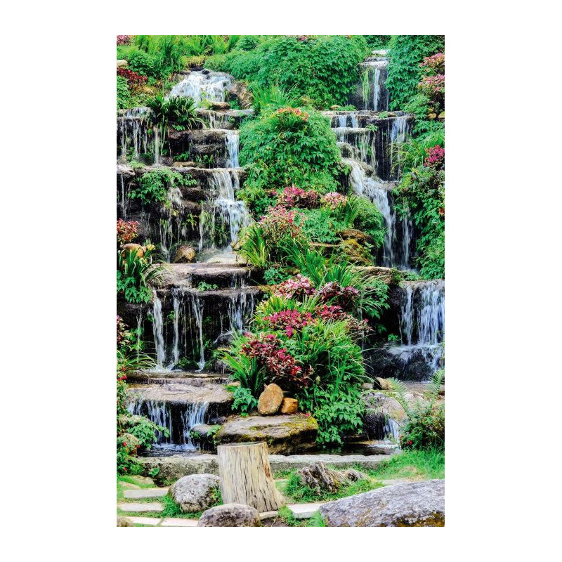Kyrielle d cor mural ext rieur cascade fleurie - Accrocher toile au mur ...