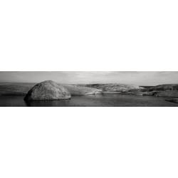 Brise vue paysage noir et blanc rochers dans la mer