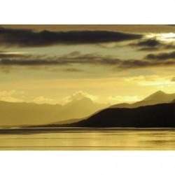 Tableau lac au coucher du soleil