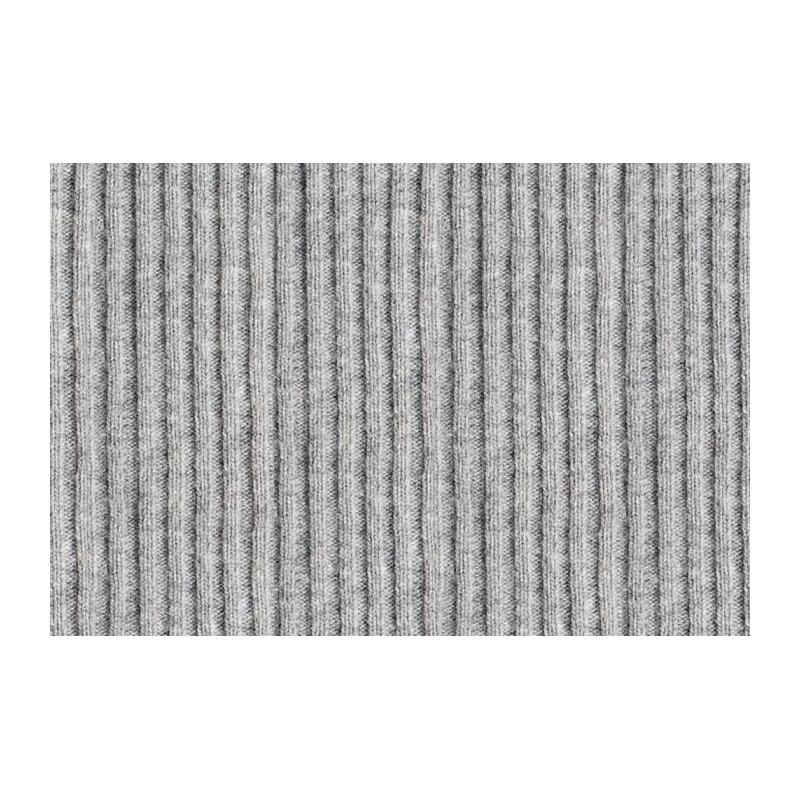 Papier peint trompe l'oeil laine grise tricotée en grand format