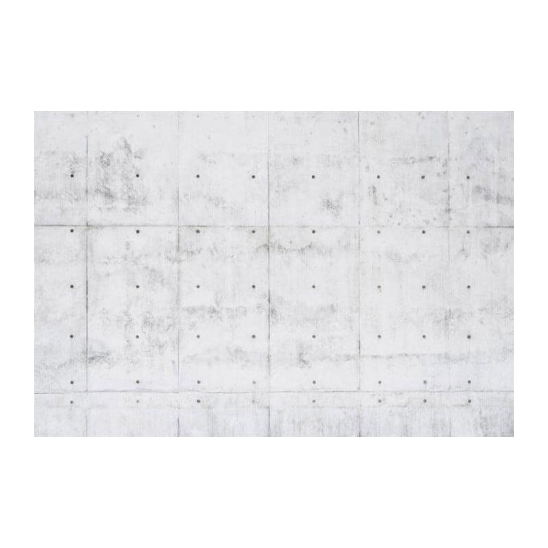 Poster panoramique trompe l'oeil béton gris sur le mur