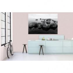 Poster géant paysage mer noir et blanc