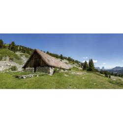 Papier peint paysage chalet de montagne