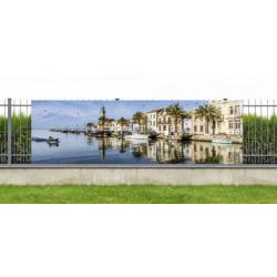 Brise vue panoramique photo du port du Grau du Roi