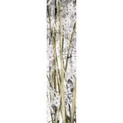 Tenture murale extérieure verticale bambous zen