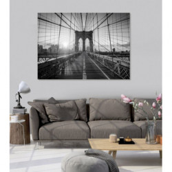 Tableau pont de Brooklyn noir et blanc