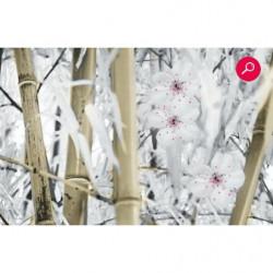 Tenture murale zen bambou beige