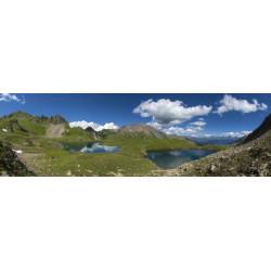 Tableau paysage lac de montagne