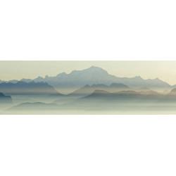 Tableau montagnes dans la brume