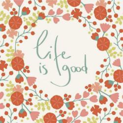 Tableau proverbe La vie est belle