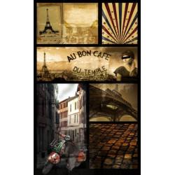 Tenture murale vintage Paris style carte postale