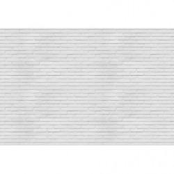Papier peint trompe l'oeil briques blanches