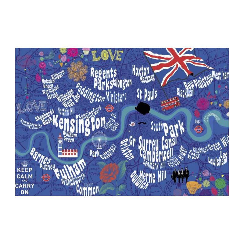 London bus un tableau aux couleurs londoniennes - Grand magasin londres pas cher ...