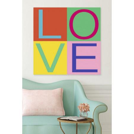 LOVE GIRLY canvas print
