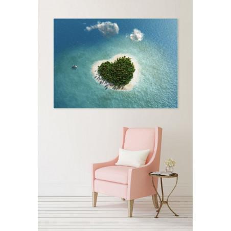 LOVE ISLAND Canvas print
