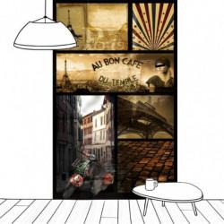 Papier peint design café parisien