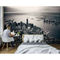 Papier peint Manhattan noir et blanc