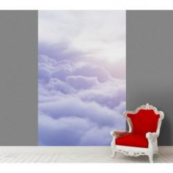 Tenture murale soleil au-dessus des nuages violets
