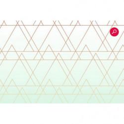 Papier peint motif triangle pastel