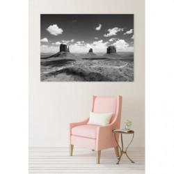 Tableau XXL Monument Valley noir et blanc