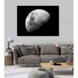 Tableau lune noir et blanc