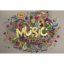 Papier peint panoramique musique