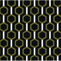 Papier peint motif géométrique noir