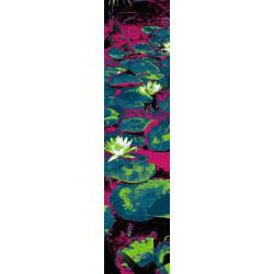 Lé de papier peint original nénuphar aux couleurs vives