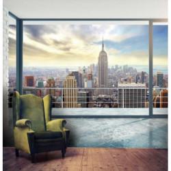 Papier peint New York trompe l'oeil