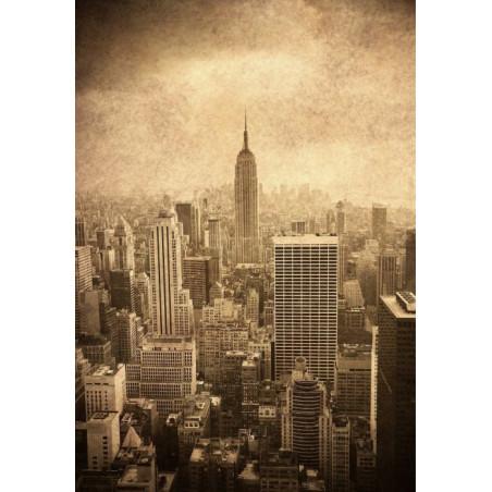 Cuadro en lienzo NEW YORK MARRÓN