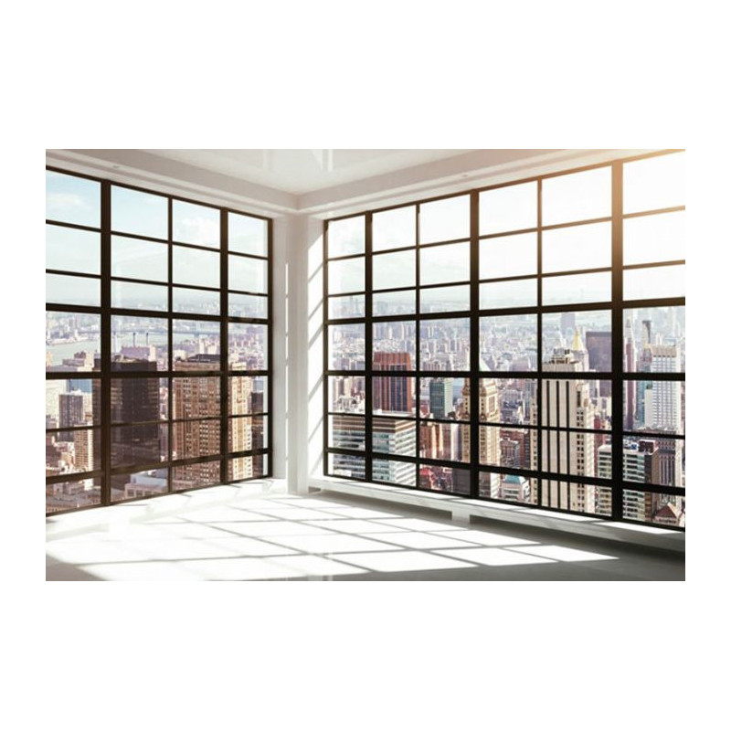Papier peint panoramique trompe l 39 oeil new york derri re for Store fenetre new york