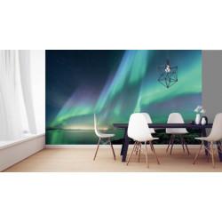 Poster panoramique aurore boréale