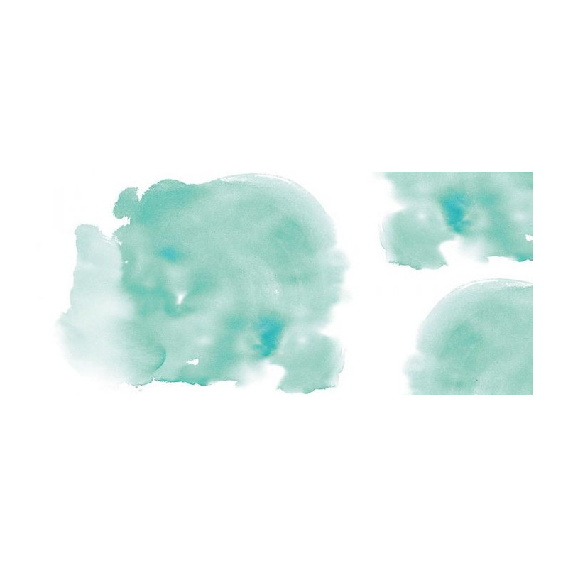 Papier Peint T 226 Che D Aquarelle Formant Un Nuage Vert