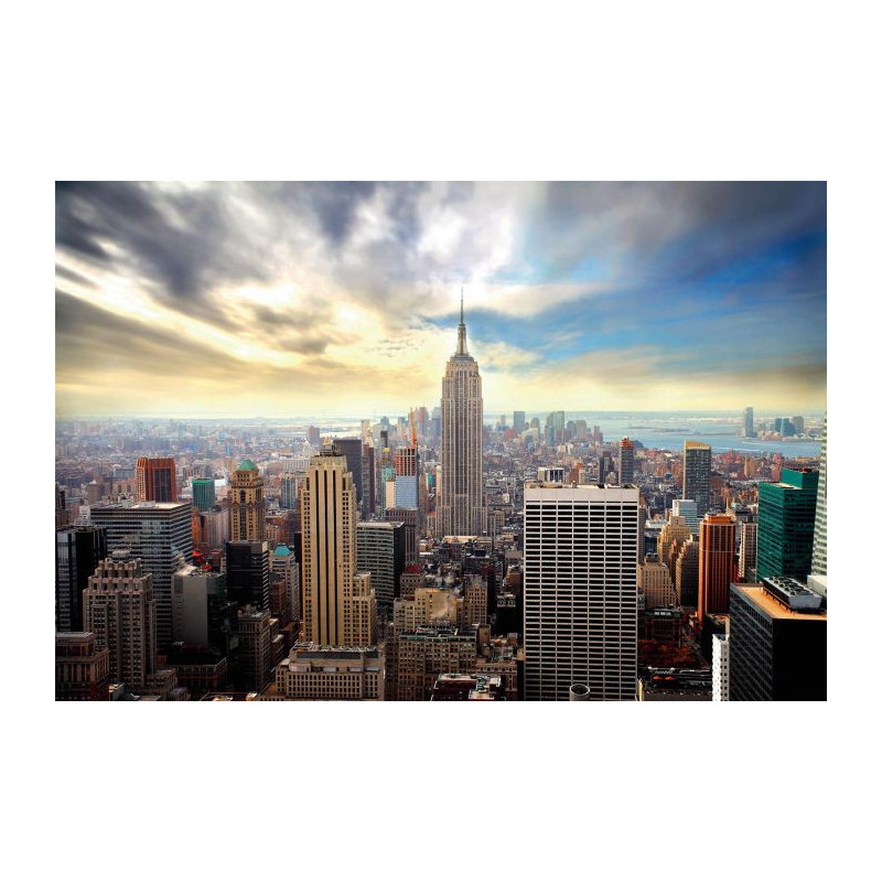 Papier peint new york d coration murale nyc vue du ciel for Decoration murale new york