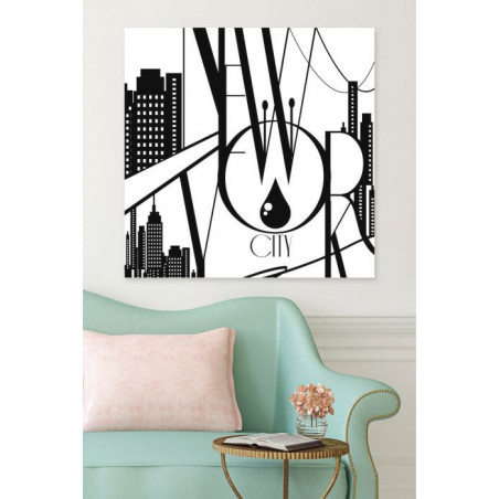 NYC IN THE 50s canvas print