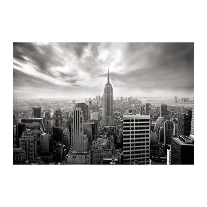 nyc nb un poster noir et blanc de new york par scenolia. Black Bedroom Furniture Sets. Home Design Ideas