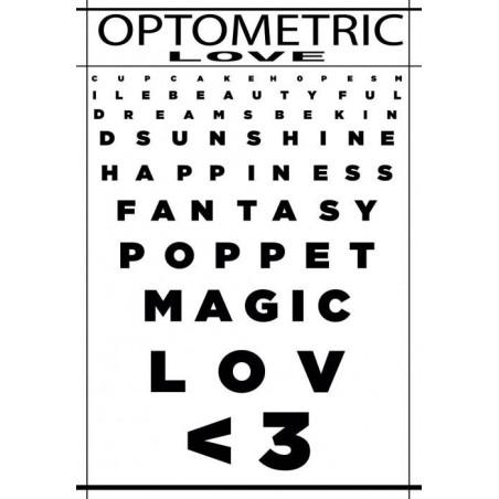 OPTOMETRIC LOVE canvas print
