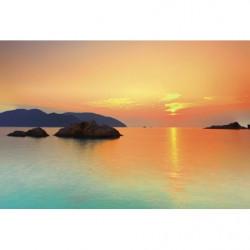 Papier peint coucher de soleil sur la mer